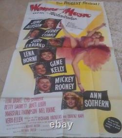WORDS AND MUSIC MOVIE POSTER 3 SHEET 1948 ORIGINAL FOLDED 41x81